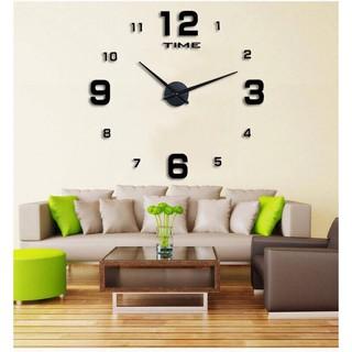 Đồng hồ treo tường Sáng Tạo Châu Âu và Châu Mỹ thời trang đơn giản tắt tiếng đồng hồ dán tường