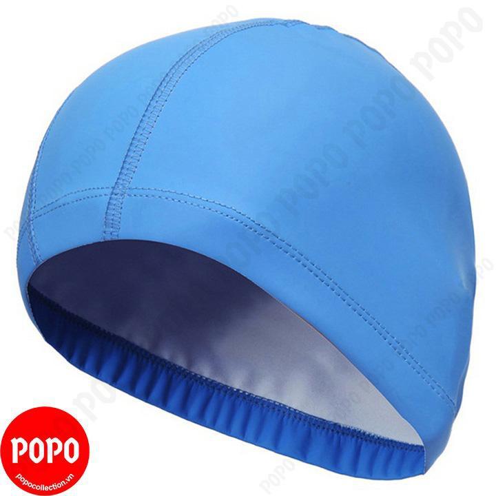 Mũ bơi, nón bơi vải Spandex CA36 POPO Collection mềm mại, đàn hồi Xanh da trời