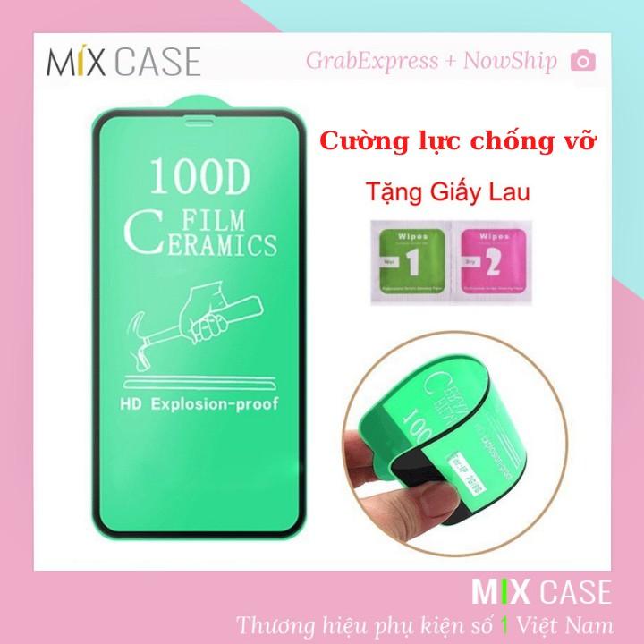Cường lực iphone Dẻo 100D Full màn - Cường lực Dẻo Chống Mẻ Vỡ Viền Full Mã Ip6-Ip12Promax