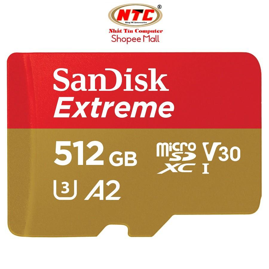 [Mã ELTECHZONE giảm 5% đơn 500K] Thẻ nhớ MicroSDXC SanDisk Extreme 512GB V30 U3 4K A2 R160MB/s - No Adapter (Vàng)
