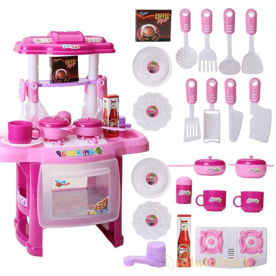 ◕ω◕Electronic Children Kitchen Cooking Girl Toy cooker Birthday Gift