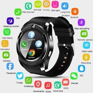 Đồng Hồ Thông Minh V8 Kết Nối Bluetooth Màn Hình Cảm Ứng Chống Thấm Nước Hỗ Trợ Android