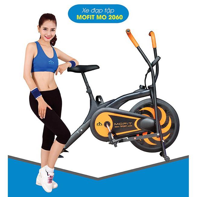 Xe đạp tập thể dục tại nhà Mofit MO 2060 combo quà tặng hấp dẫn để chọn như Lắc eo, Con lăn tập bụng, Dây ngũ sắc