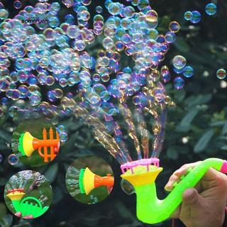 SMYR_Creative Multi-Hole Trumpet Water Soap Blowing Bubbles Outdoor Kids Children Toy