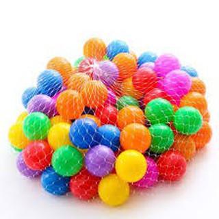 {Giá Sỉ} túi 100 quả bóng nhựa đường kính 5cm nhiều màu cho bé chơi