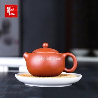 Ấm trà tử sa Nghi Hưng phụ kiện bàn trà hình dáng tròn cố điển vòi ngắn