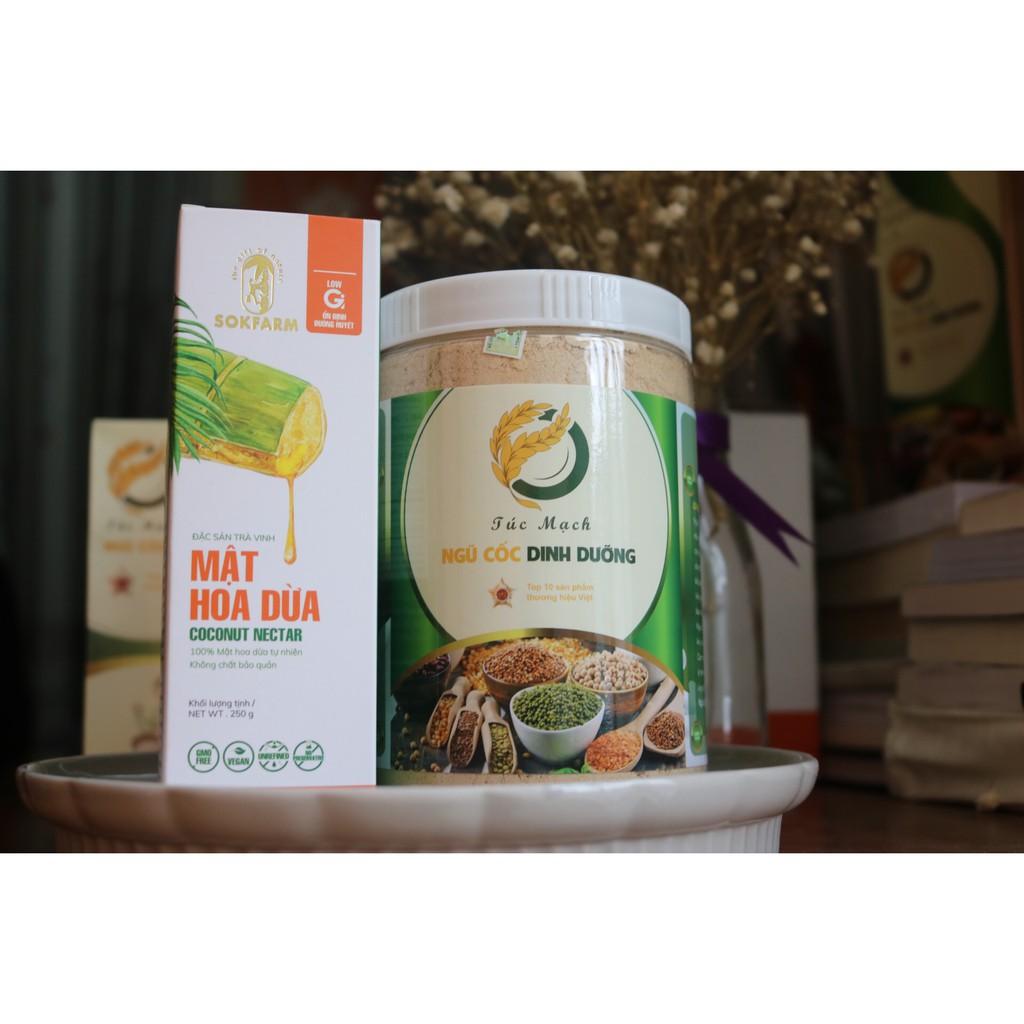 Combo giảm cân hiệu quả Ngũ cốc Túc Mạch và Mật hoa dừa Sokfarm