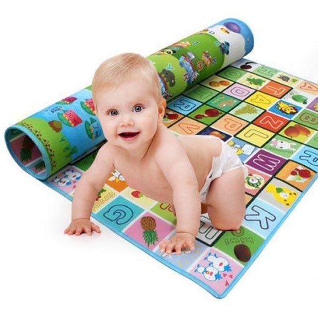 Thảm xốp Maboshi 2 mặt cho bé vui chơi kích thước 1m8x2m, Giá tháng 10/2020