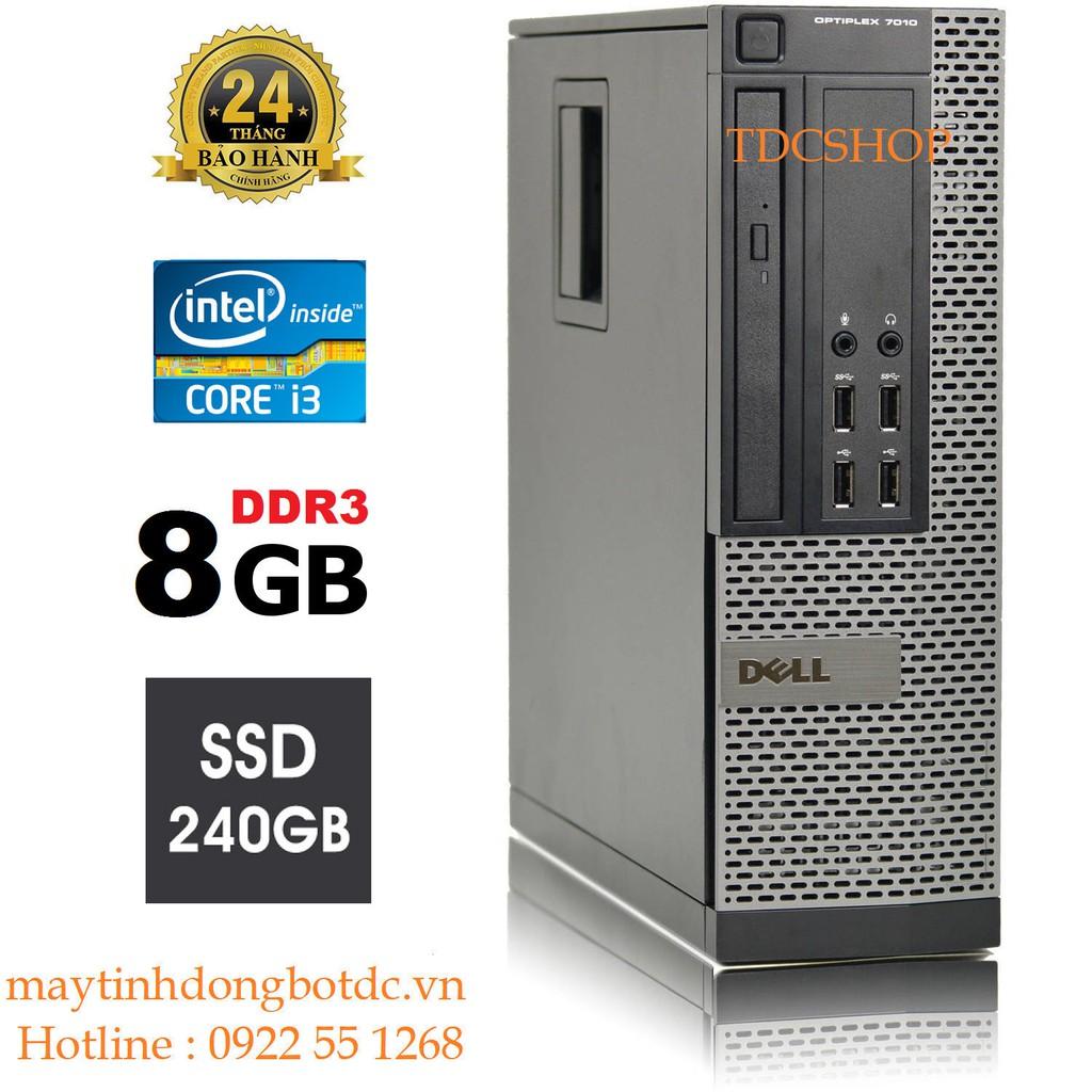 Case máy tính đồng bộ DELL Optiplex 7010 core i3 3220, ram 8gb, ổ cứng SSD 240gb. Tặng usb thu wifi. Hàng Nhập Khẩu. Giá chỉ 3.225.000₫