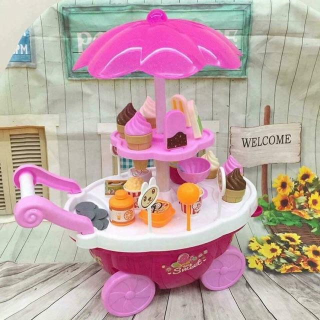 Bộ đồ chơi xe kem có nhạc cho bé