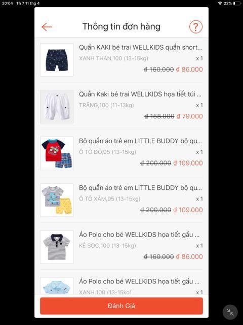 Đánh giá sản phẩm Quần Kaki bé trai WELLKIDS họa tiết túi hộp hàng xuất Âu Mỹ của kimthy1102