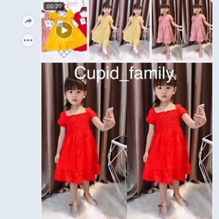 Váy đũi bèo nhún thân sang chảnh cho bé gái - VDT