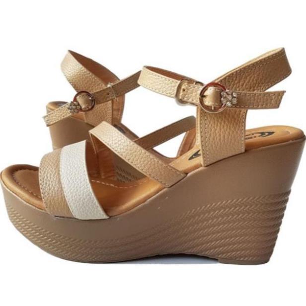 [Sale 3/3]Giày sandal xuồng nữ BIGGBEN da bò thật cao cấp HKD046 -x13