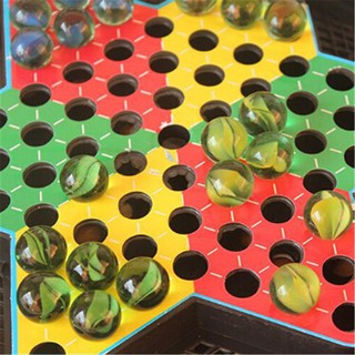 WHVN Chinese Checker Chessboard Battle Flying Airplane Marbles Kids Toys Games spur