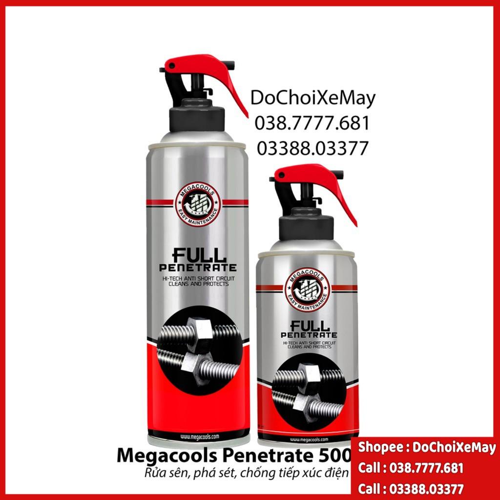 MEGACOOLS FULL PENETRATE 500ml Rửa sên, phá sét, chống ăn mòn, chống oxi hóa, hàng chính hãng . DoChoiXeMay
