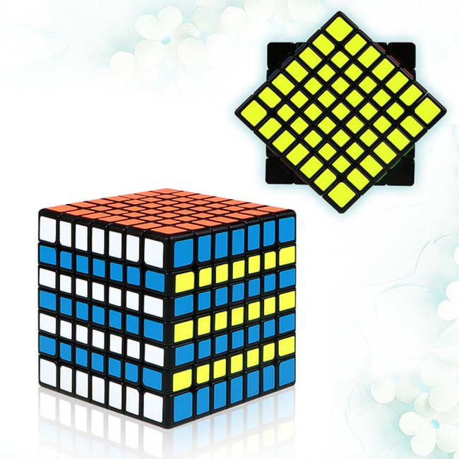 7X7 Colorful Magic Cube Brain Teaser Adult Releasing Pressure Puzzle Speed Cube