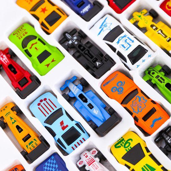 Sét 10 chiếc ô tô nhiều màu cho bé