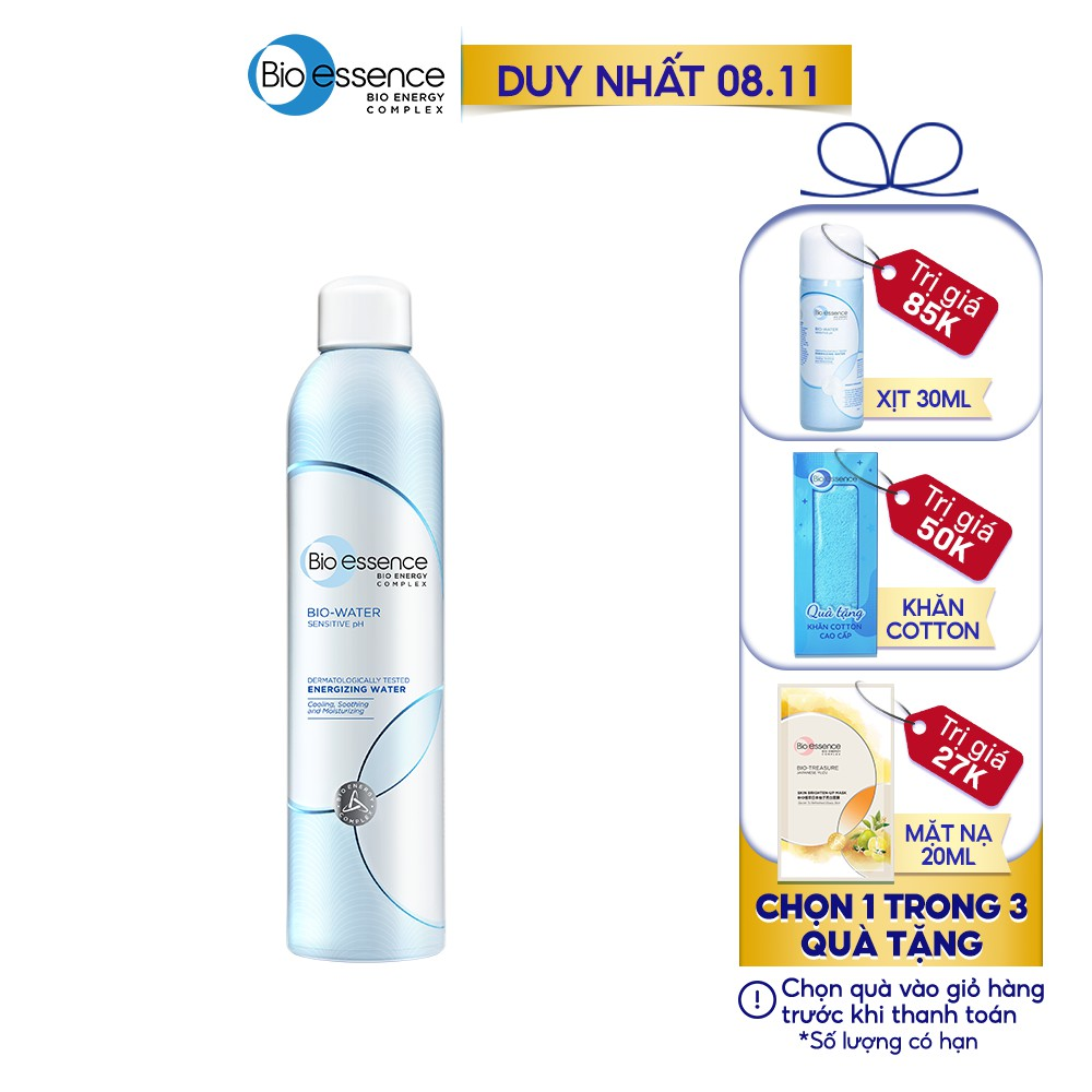 [Mã COSMALL11 -10% ĐH 250K]Nước khoáng dưỡng da ẩm mượt mịn màng Bio-Essence Bio-Water Water Energizing 300ml