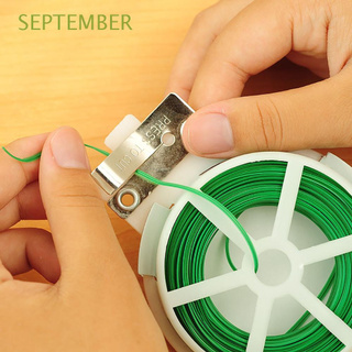 SEPTEMBER A Roll Twist Tie Twine Cable Organizer Garden Twine For Plants Growth Gardening Supplies Green With Cutter 20/30/50/100M Plant Wire