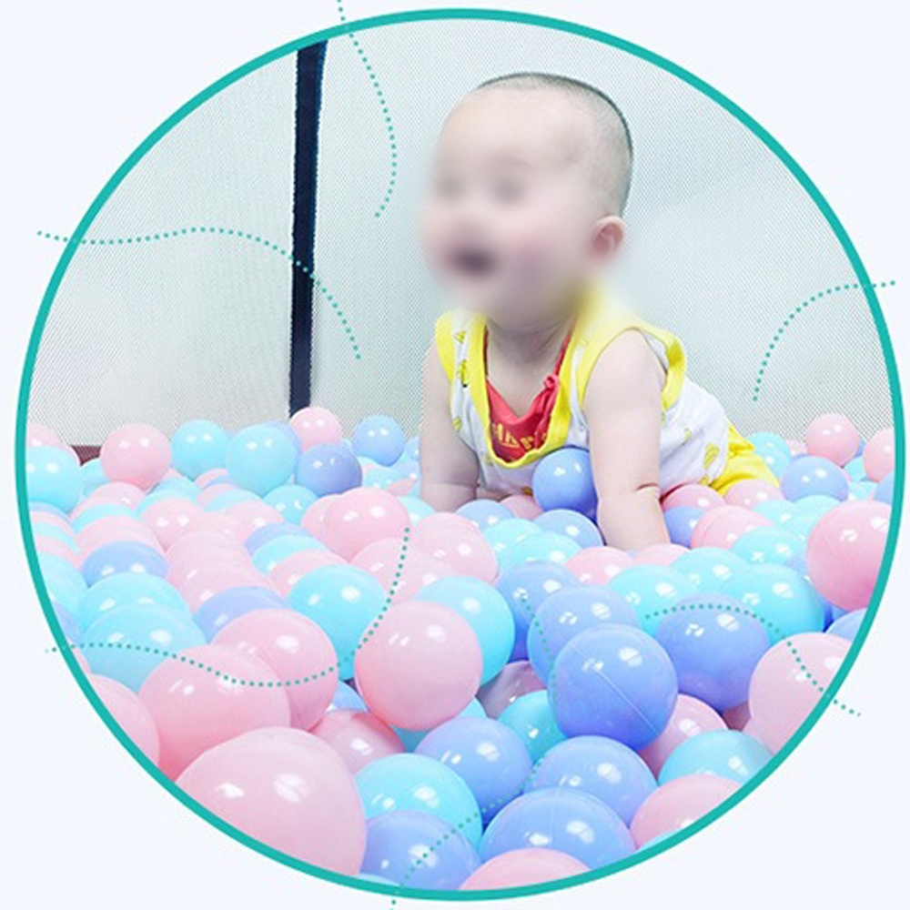 100X Mixed Colors Ball Soft Plastic Ocean Ball Attractive Baby Kid Swim Pit Toy