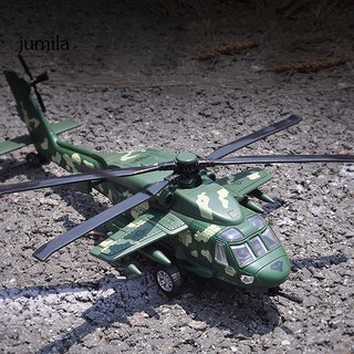 JUL 1/72 Alloy Diecast Black Hawk Helicopter Pull back Model with Sound Light Toy