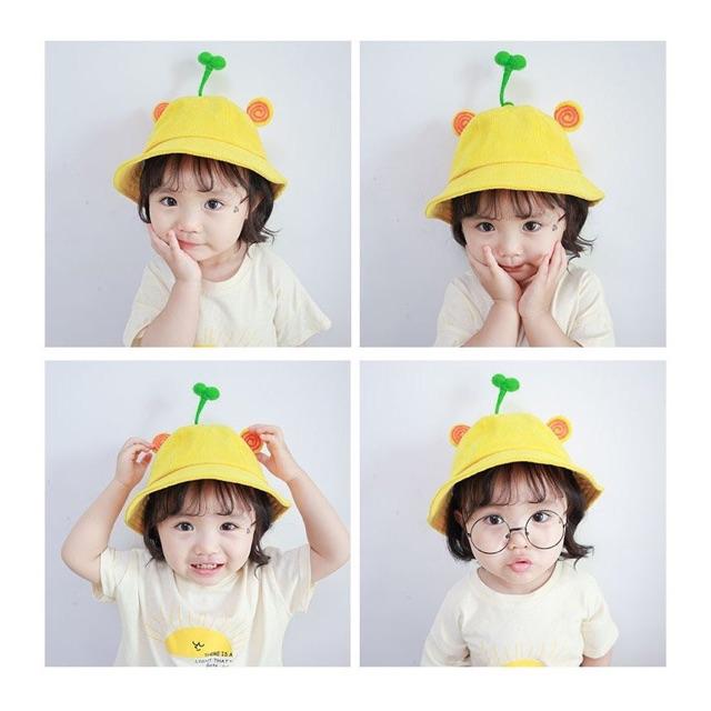 Mũ bucket mầm cây tai hình xoắn cho người lớn và trẻ em