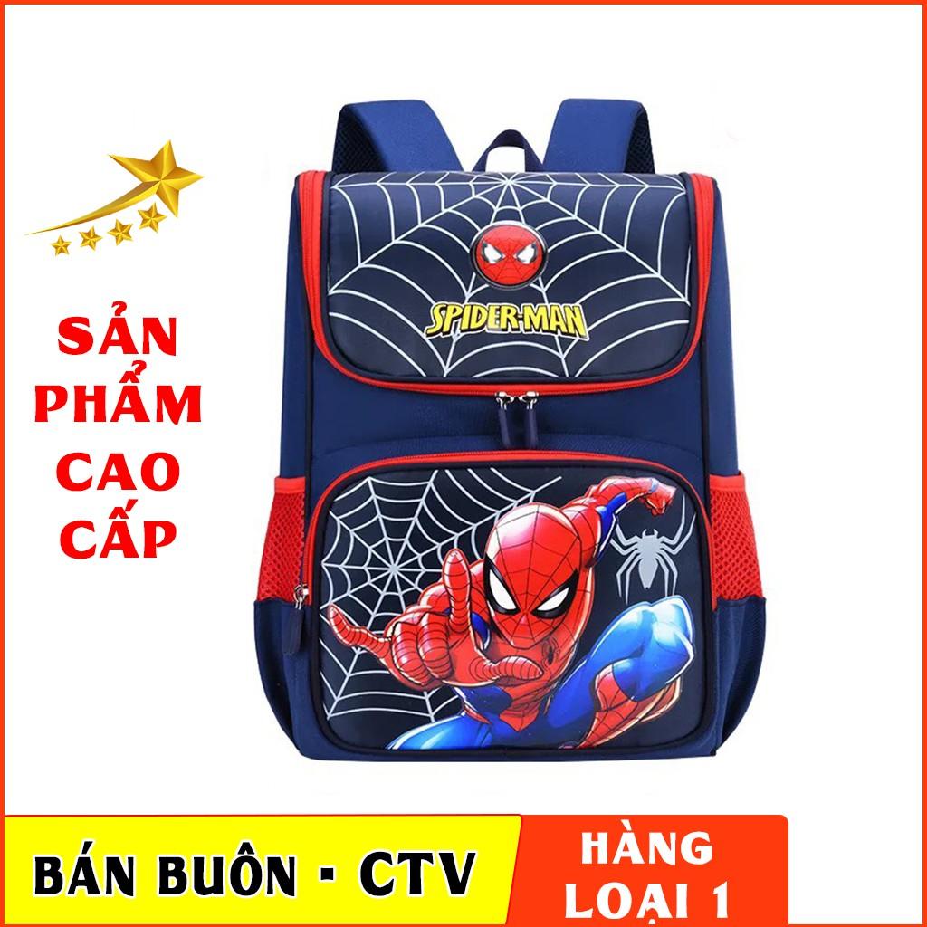 [HÀNG SIÊU ĐẸP ]Balo Chống Gù dáng hộp cho bé trai,siêu nhẹ in hình Siêu nhân người nhện TE34