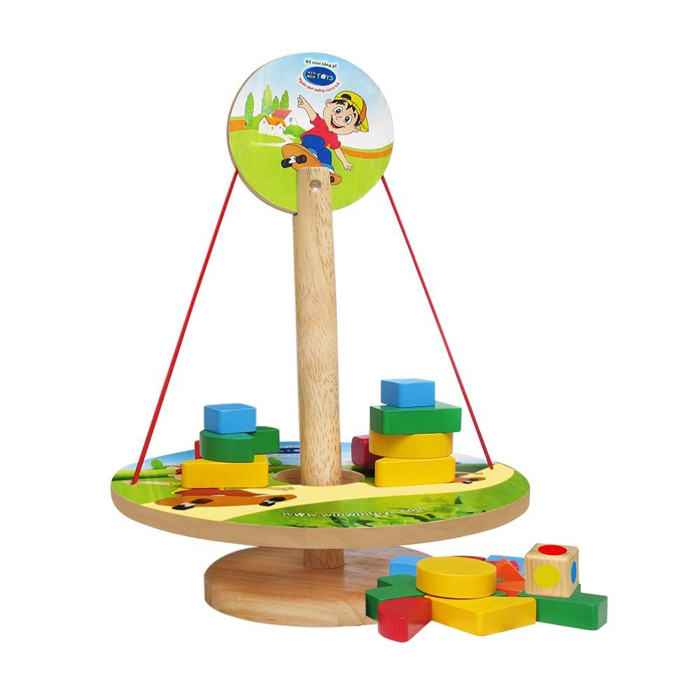 Đồ chơi gỗ Winwintoys - Đĩa cân b