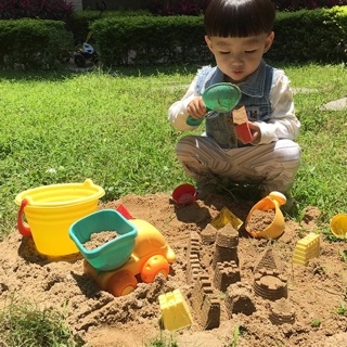 Ninikids: Bộ đồ chơi tắm ô tô chở cát ( bãi biển)