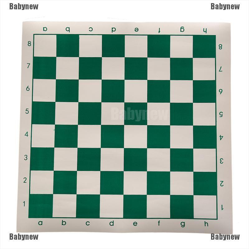 Babynew 42cm x 42cm chess board for children's educational games green & white color