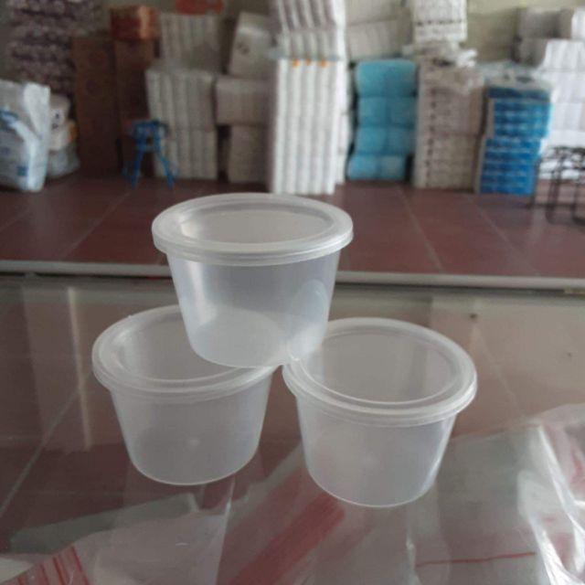 Combo 50 cốc nhựa làm caramen, bánh flan