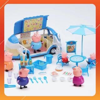 Bộ đồ chơi gia đình heo Peppa Pig đi dã ngoại LOẠI TỐT