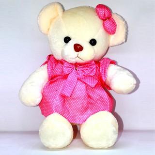 Đồ chơi thú bông TB010 – Gấu bông diện váy chấm bi xinh tươi