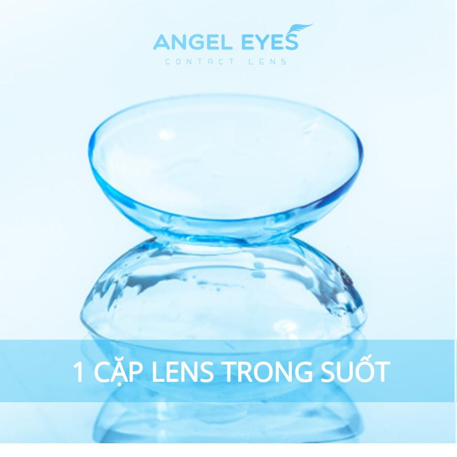 [GIÁ TỐT NHẤT] Lens trong suốt cho mắt nhạy cảm Angel Eyes, kính áp tròng trong suốt Cosmo độ cận...