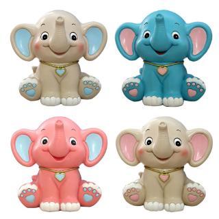 YOUN* Cartoon Baby Elephant Piggy Bank Resin Coin Bank Money Bank Kids Birthday Gifts