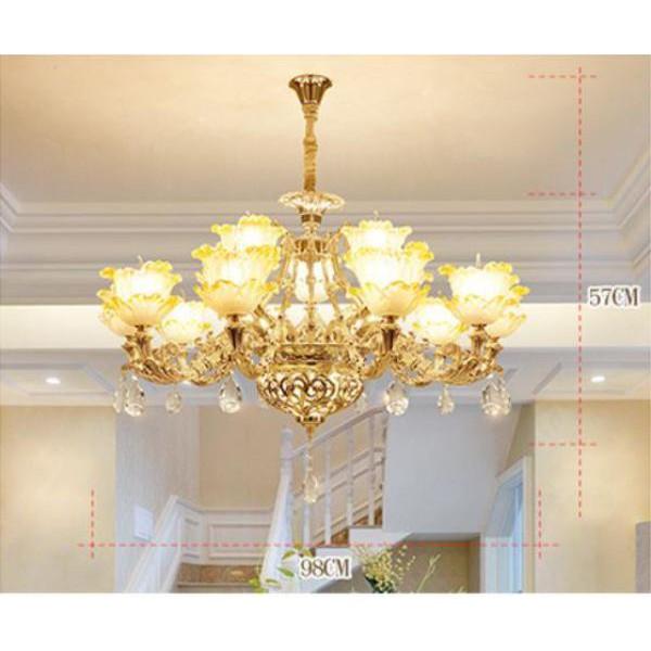Đèn chùm ALISTAR phong cách Châu Âu hiện đại cao cấp loại 8 tay - Tặng kèm bóng Led cao cấp