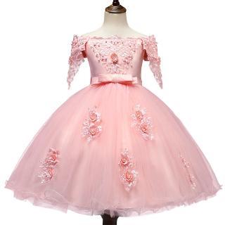 Đầm công chúa kiểu xòe phối ren thời trang cho bé gái