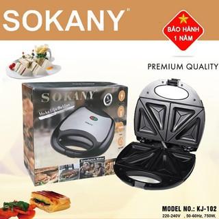 (BH 1 năm) Máy làm bánh Hotdog,nướng bánh mỳ Sokany KJ-102 công suất 750W thumbnail