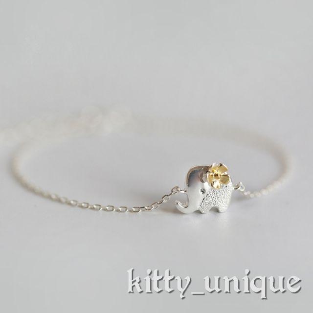 Vòng tay lắc tay bạc chú voi nhỏ cao cấp dễ thương