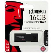 USB Kingston DT100 3.0 Bảo hành 60T (SPC/FPT) 16GB - 32GB - 64GB