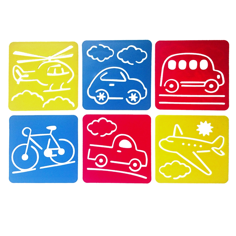 Hollow Out Template Painting Stencil Preschool Children DIY Accessories Kid Toy