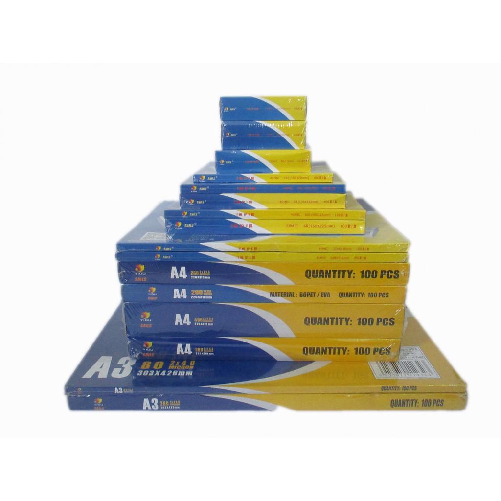 Giấy ép Plastic A5 dày mỏng các loại
