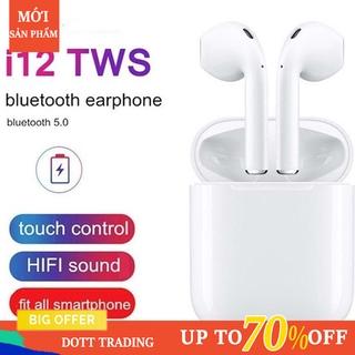 Tai Nghe I12 Tws Kết Nối Bluetooth 5.0 Màu Trắng