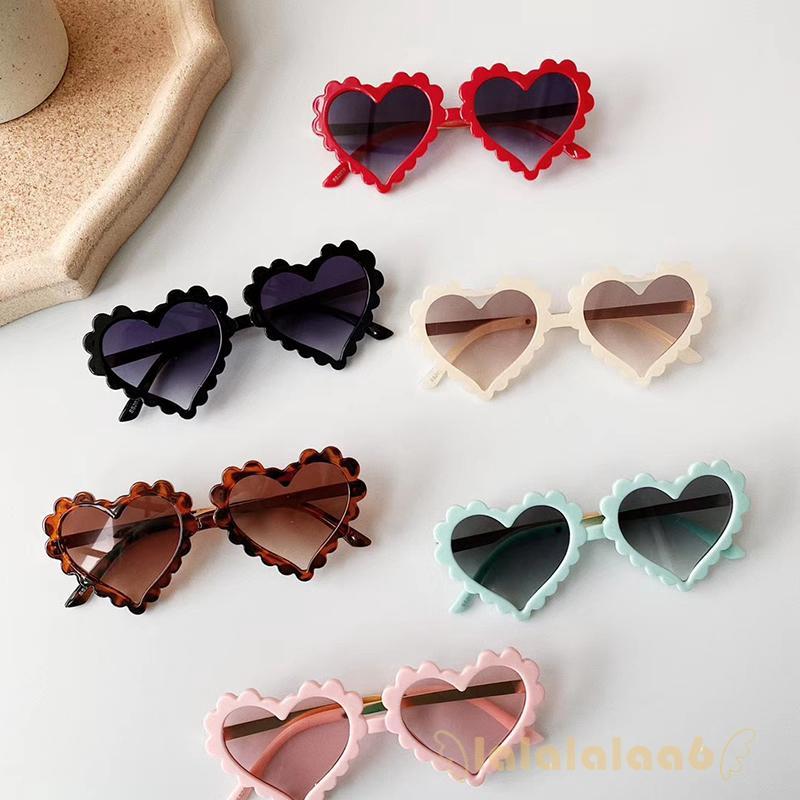 ◕ω◕Kids Heart Shaped Cute Fashion UV Protection Sunglasses