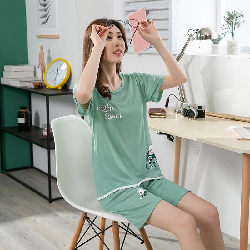 Mặc gì đẹp: Gọn tiện với Bộ đồ ngủ nữ mùa hè Quần áo cộc tay ngắn mỏng hoạt hình dễ thương quần short-  Đồ mặc ở nhà và đi chơi BĐN03