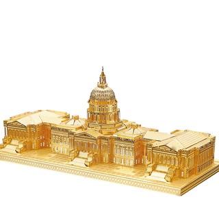 Mô Hình Kim Loại Lắp Ráp 3D Tòa Nhà Quốc Hội Mỹ US Capitol Piececool P015-G