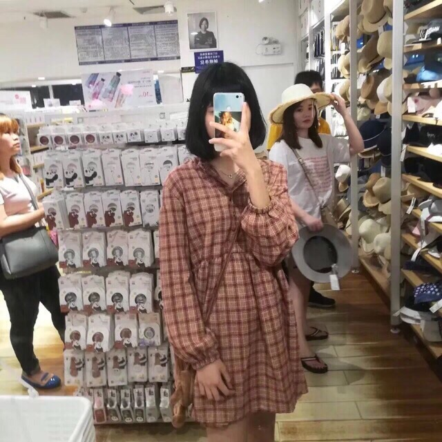 [Order] Váy babydoll kẻ caro siu hot ulzzang | SaleOff247