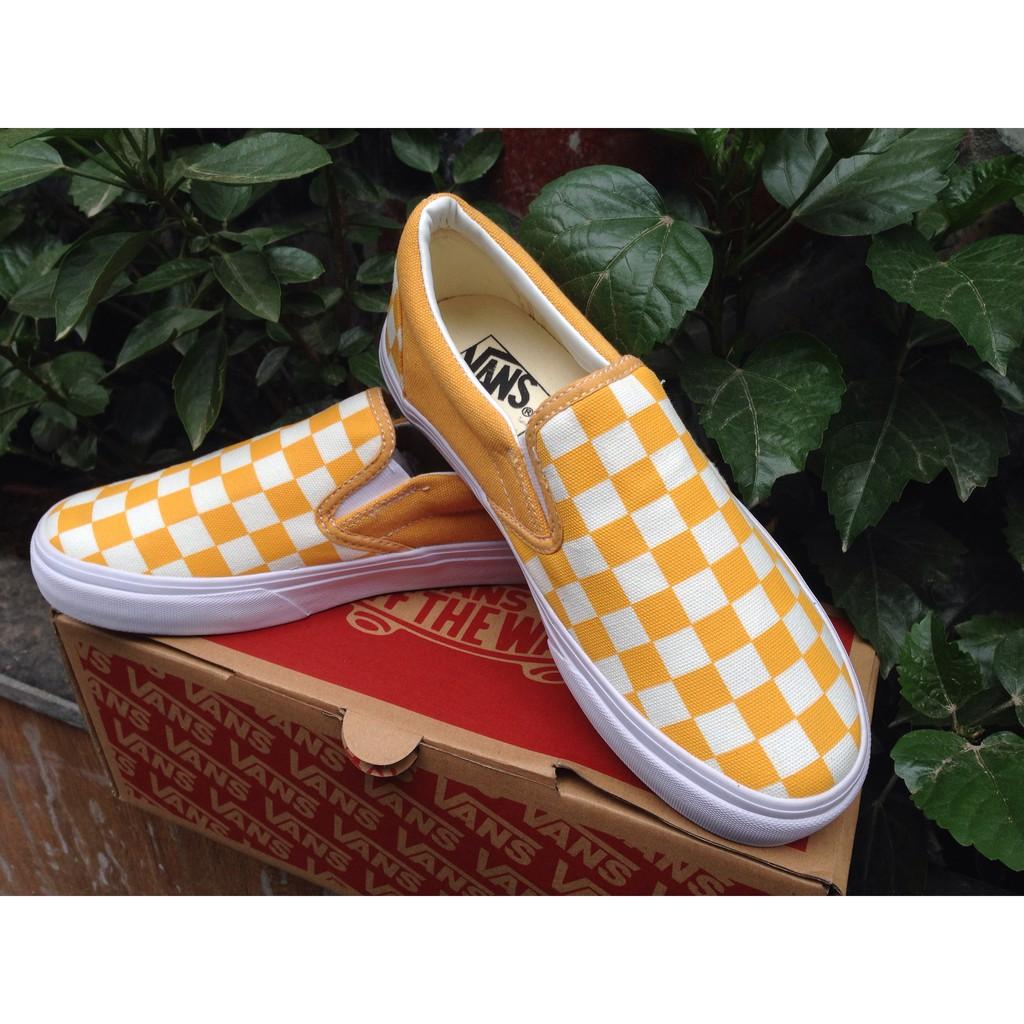 [Free Ship + Full box] Giày Vans lười Slip-On Checkerboard màu vàng trắng - 2660514 , 606382509 , 322_606382509 , 180000 , Free-Ship-Full-box-Giay-Vans-luoi-Slip-On-Checkerboard-mau-vang-trang-322_606382509 , shopee.vn , [Free Ship + Full box] Giày Vans lười Slip-On Checkerboard màu vàng trắng