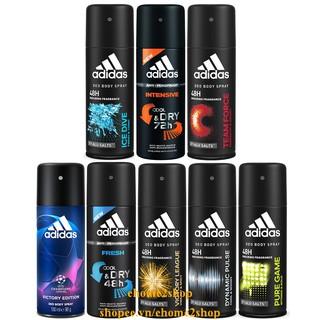 Xịt Khử Mùi Toàn Thân 48h 150ml Adidas Với Tám Phong Cách Khác Nhau shopee.vn/ehome2shop.