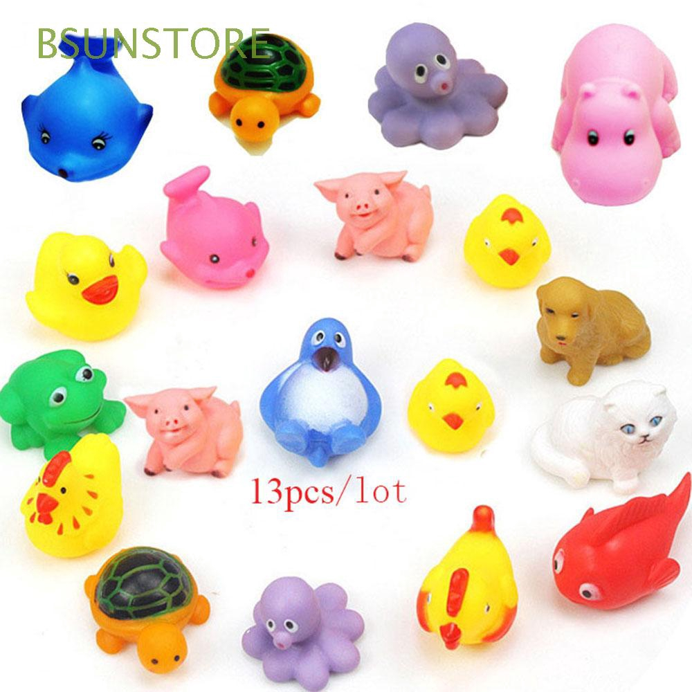 13Pcs Color Random Colorful Lovely Baby Kids Soft Bathing Floating Toy